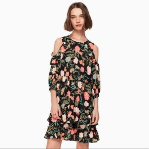 KATE SPADE Blossom Cold Shoulder Floral Dress